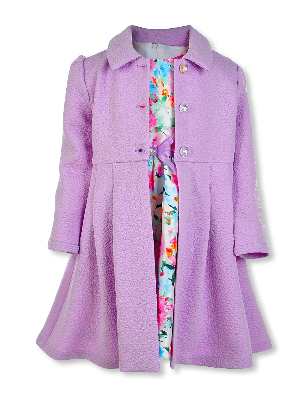 Girls Lavender Casual Dresses