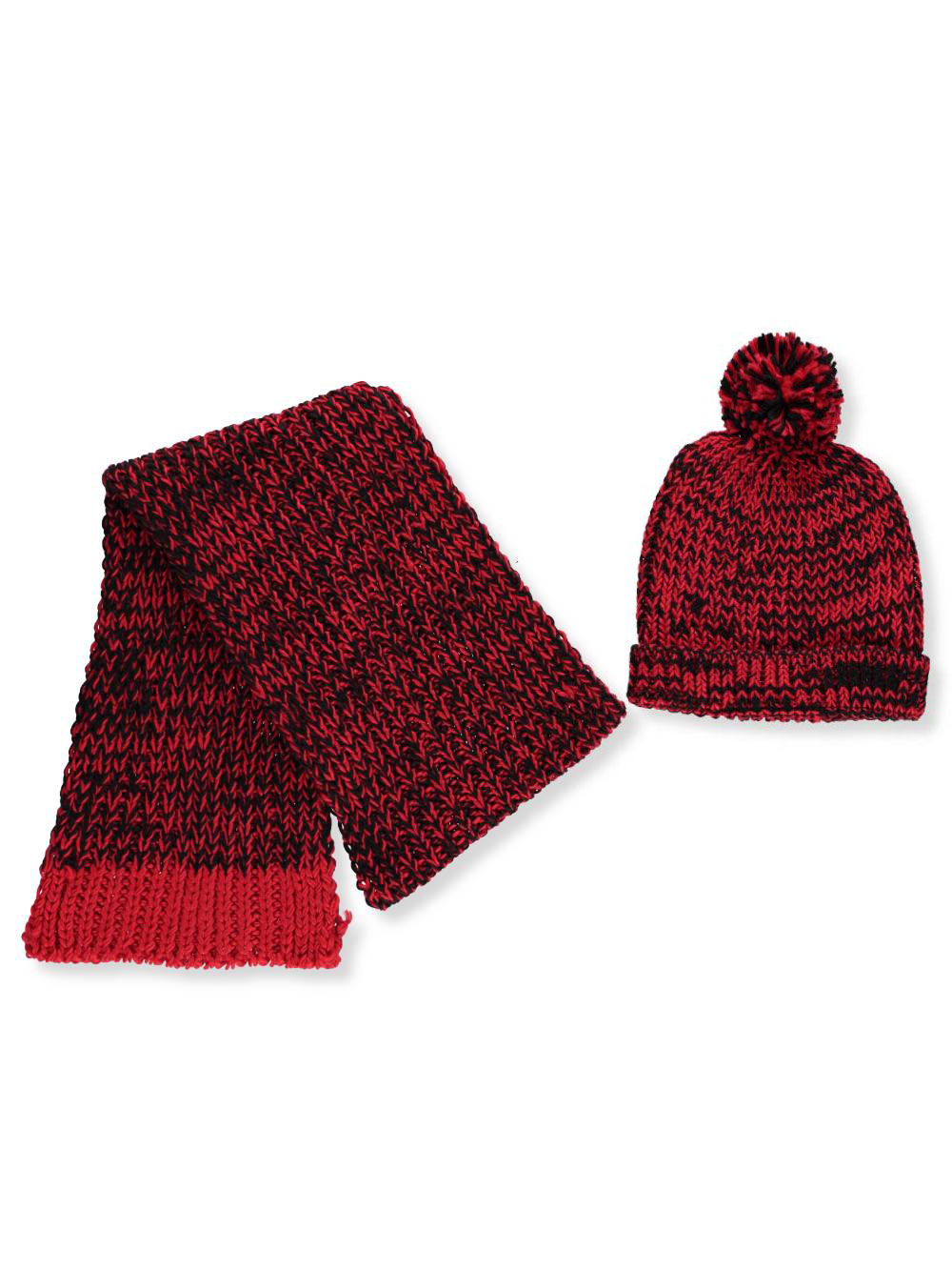 ae5bc6b41 Girls' Beanie & Scarf Set by Alexa Rose in Red/multi