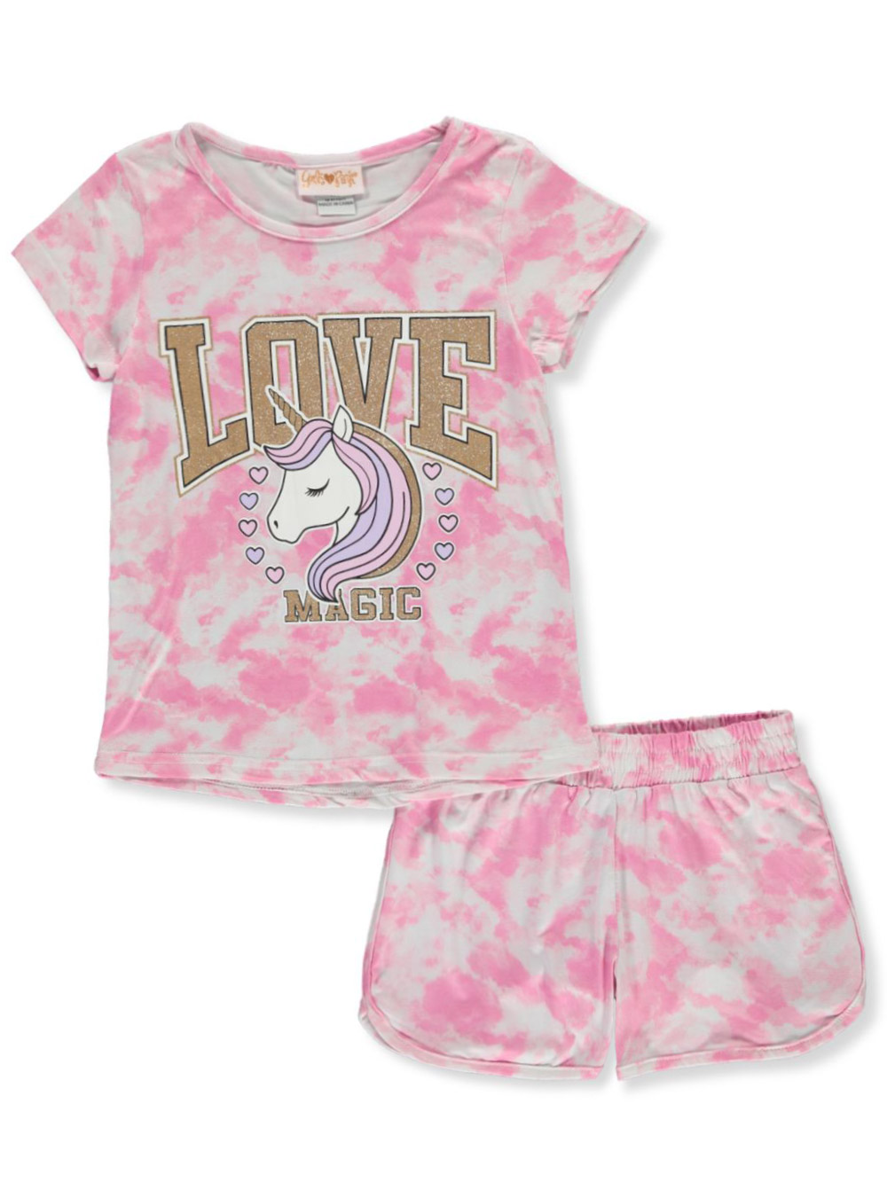 Girls Pink Short Sets