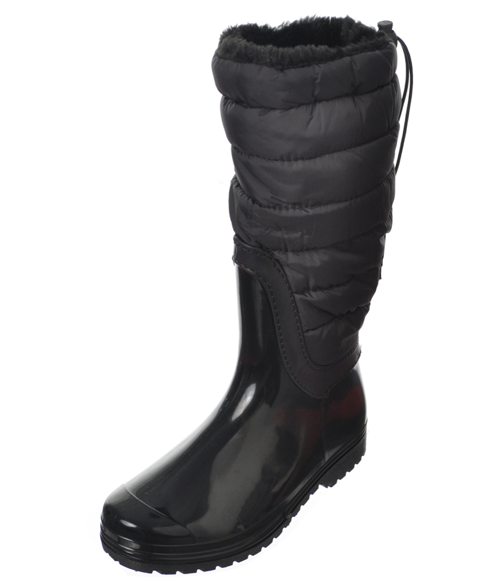 Image of Henry Ferrera Girls Fashion Baffle CalfHigh Boots Youth Sizes 12  6  black 12 youth