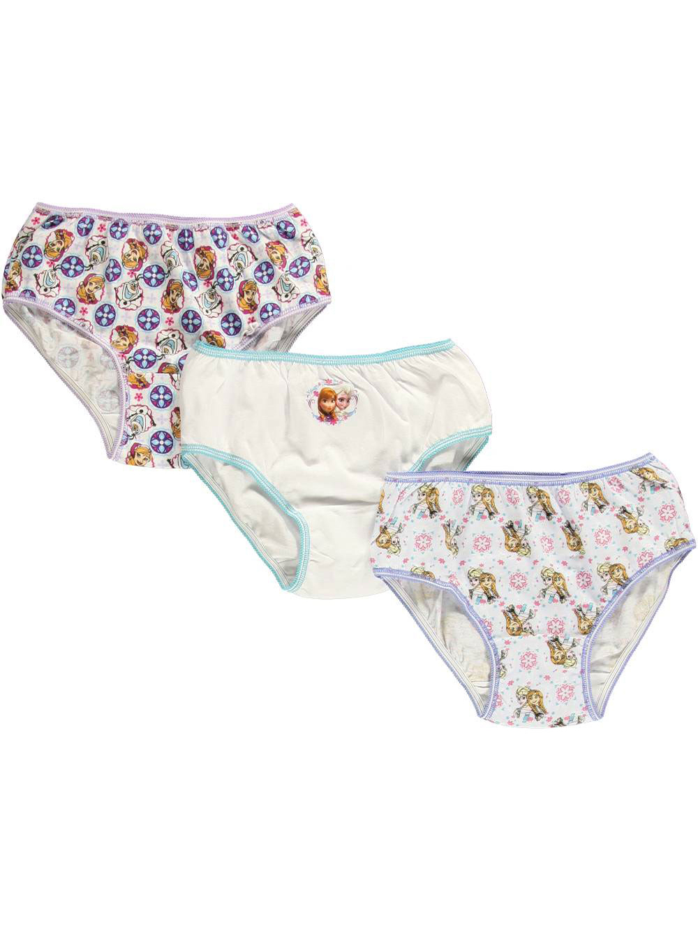 Girls Purple and Multicolor Underwear