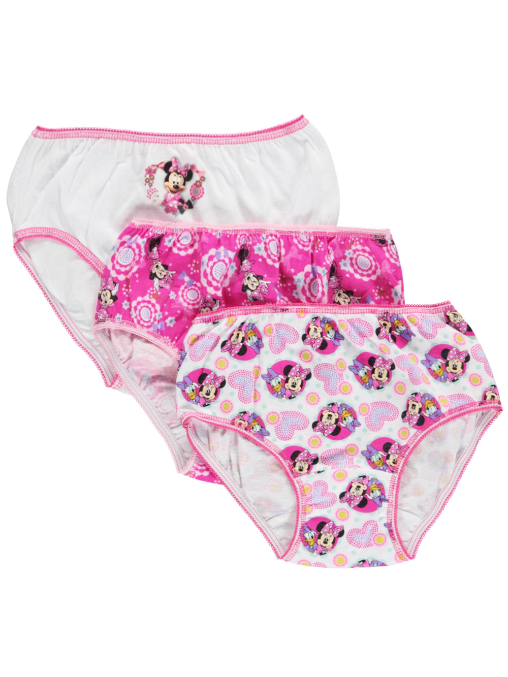 Girls Pink and Multicolor Underwear