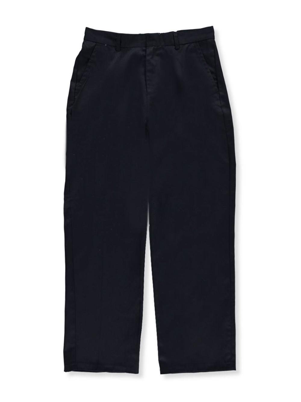 Image of Preferred School Uniforms Big Boys Husky Flat Front Pants Husky Sizes  midnight navy 20h