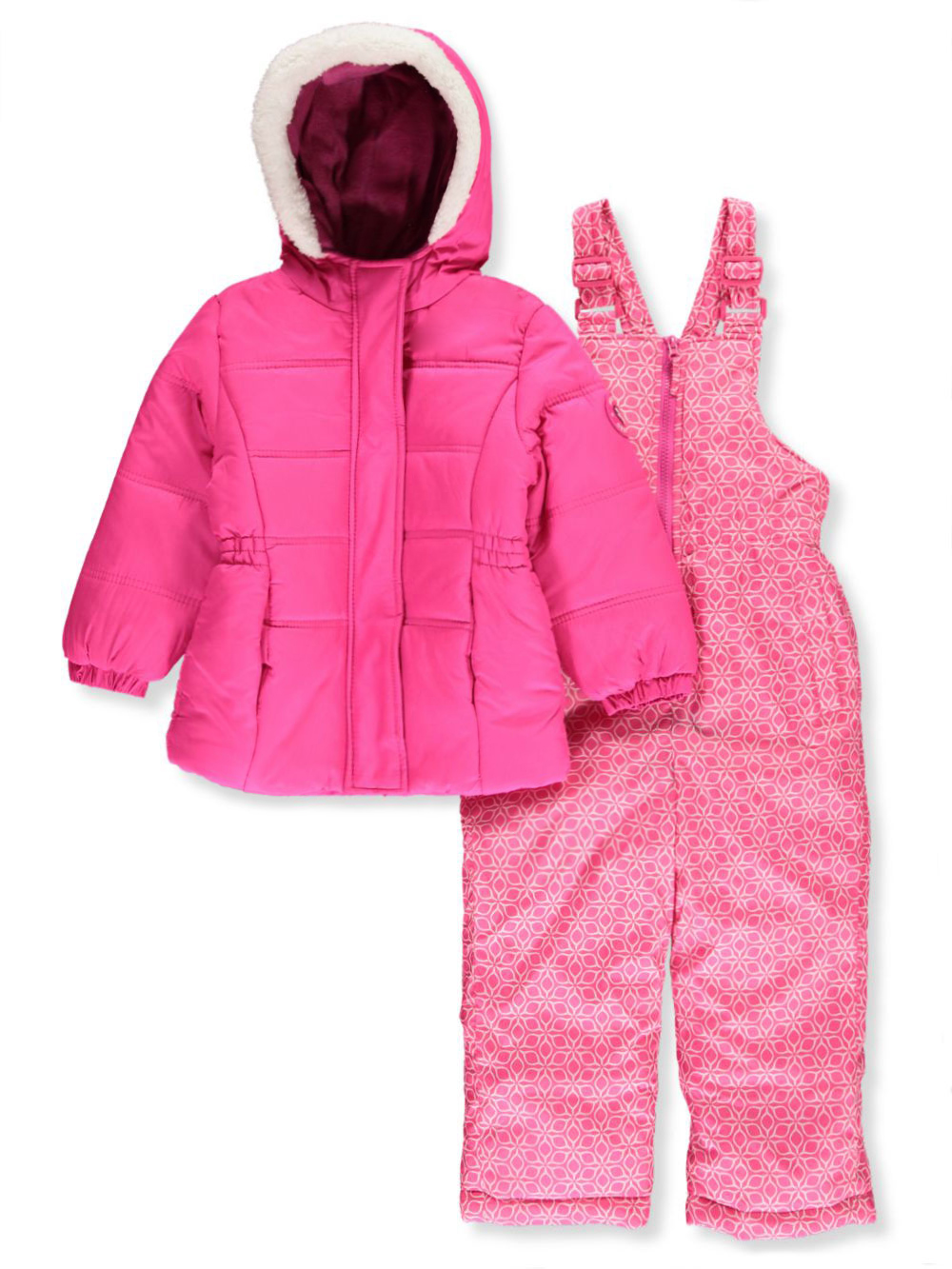 Girls Pink Snowsuits