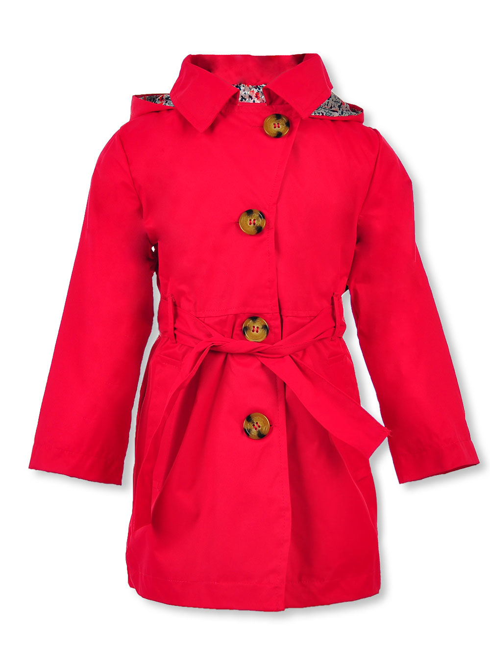 Girls' Hooded Trench Coat