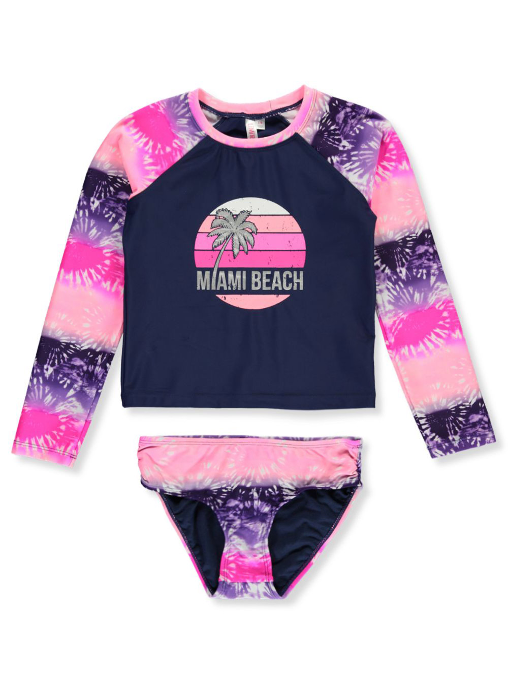 Girls Navy Swimwear
