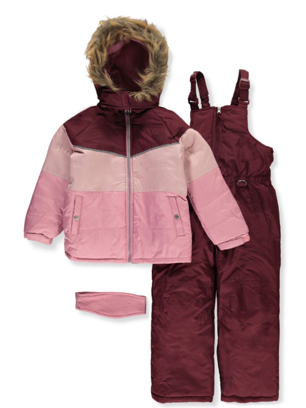 Girls Gray Snowsuits