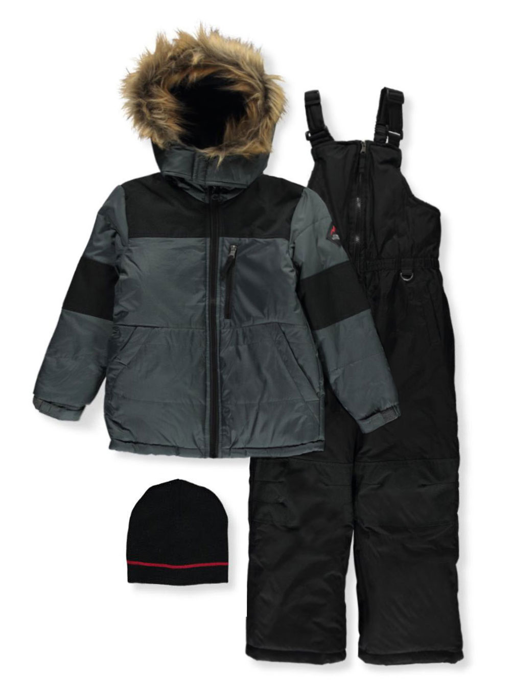 Boys Charcoal Snowsuits