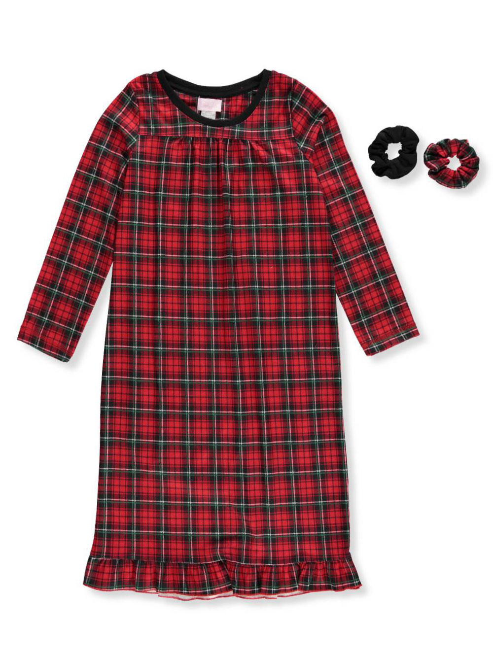 Girls Fashion Nightgown with Scrunchies
