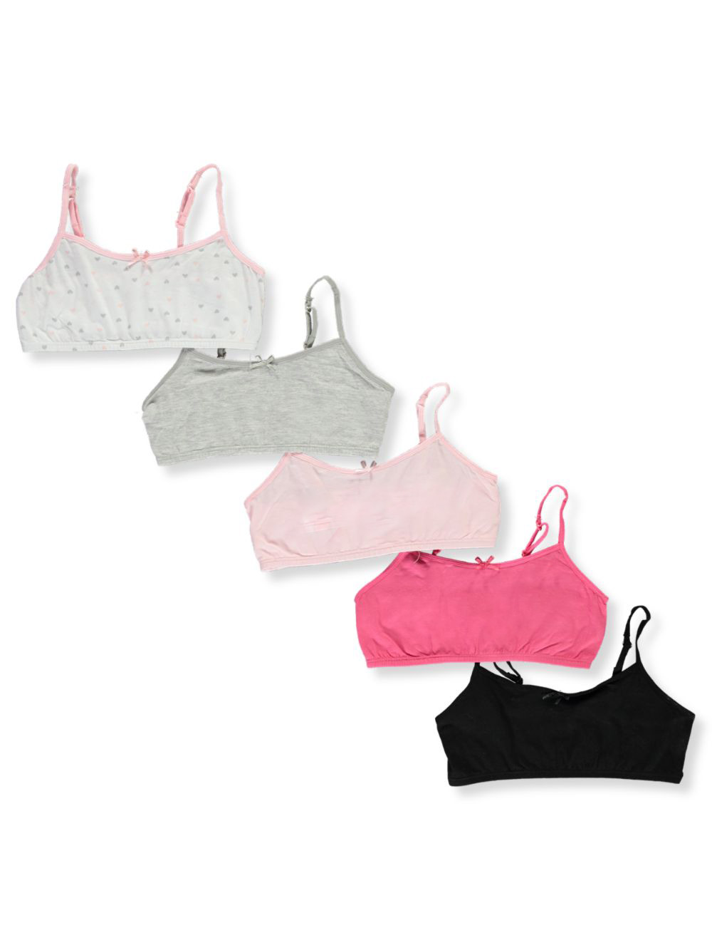 Training Bras Bralet 5-Pack Jersey Construction