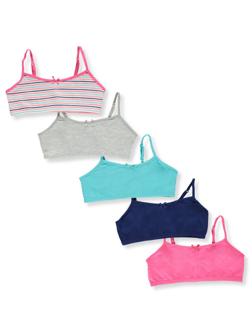 Training Bras 5-Pack Bralettes