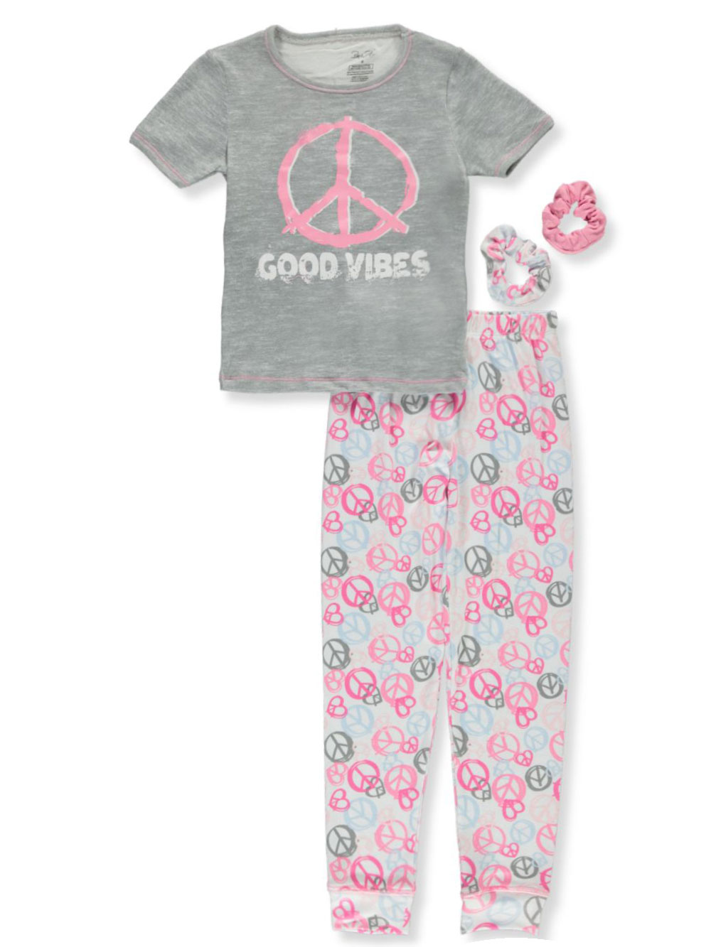 Pajamas 2-Piece With 2-Pack Scrunchies