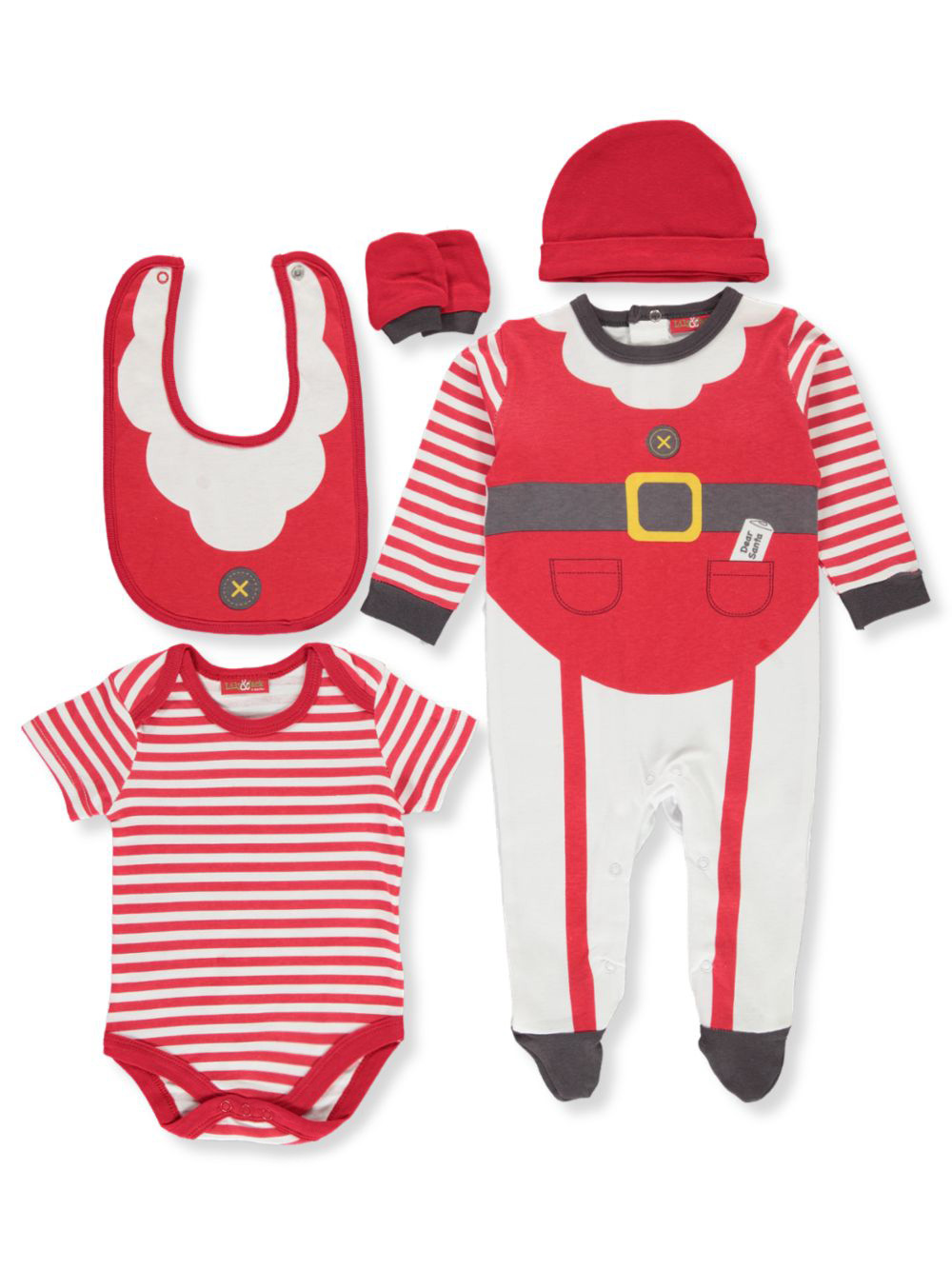 Unisex Baby Holiday 6-Piece Layette Set