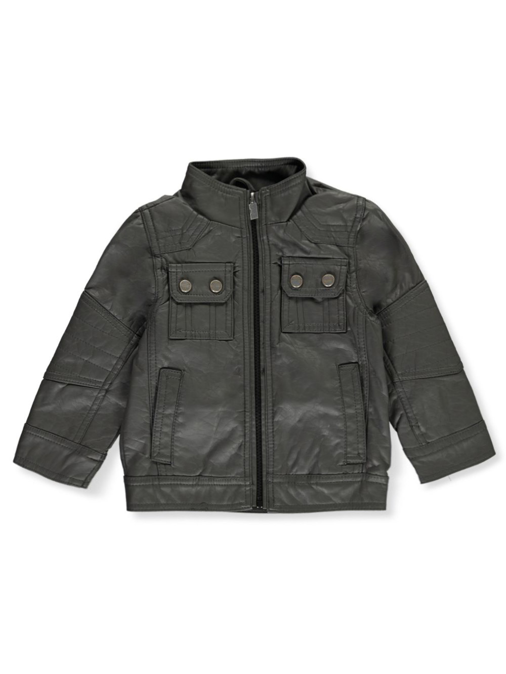 Baby Boys' Faux Leather Moto Jacket