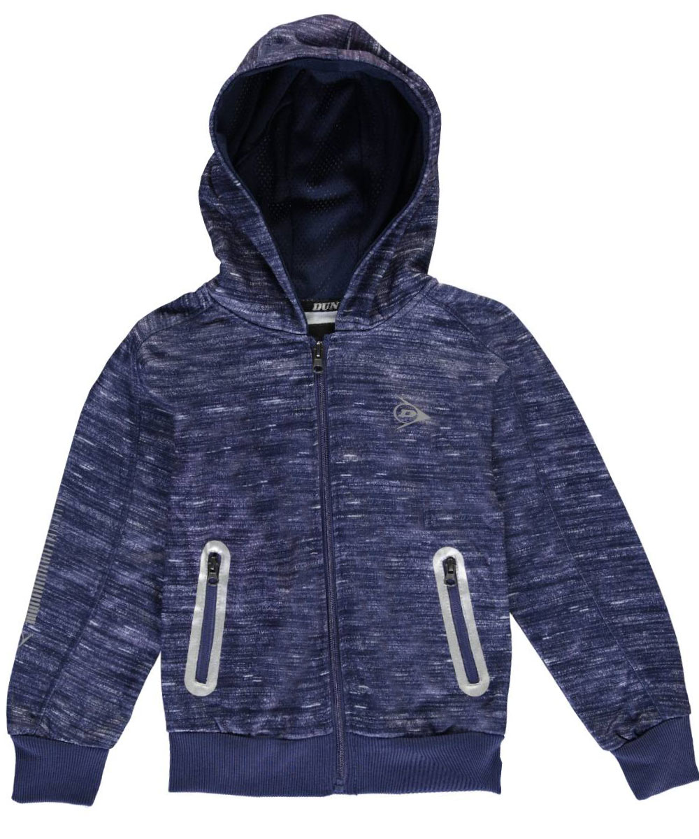 Image of Dunlop Little Boys Static Fleece Hoodie Sizes 4  7  navy 6