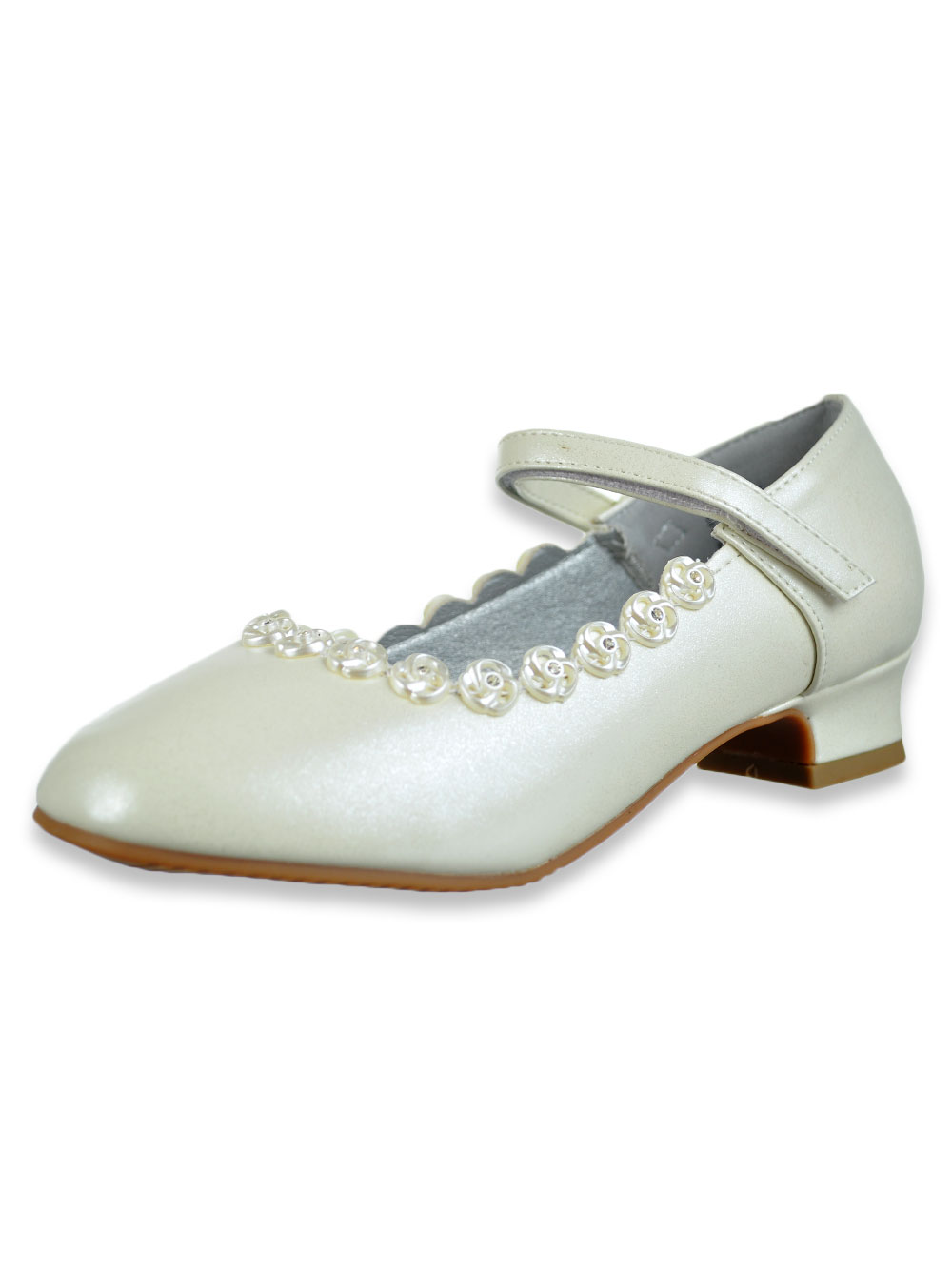 Girls Beige Dress Shoes