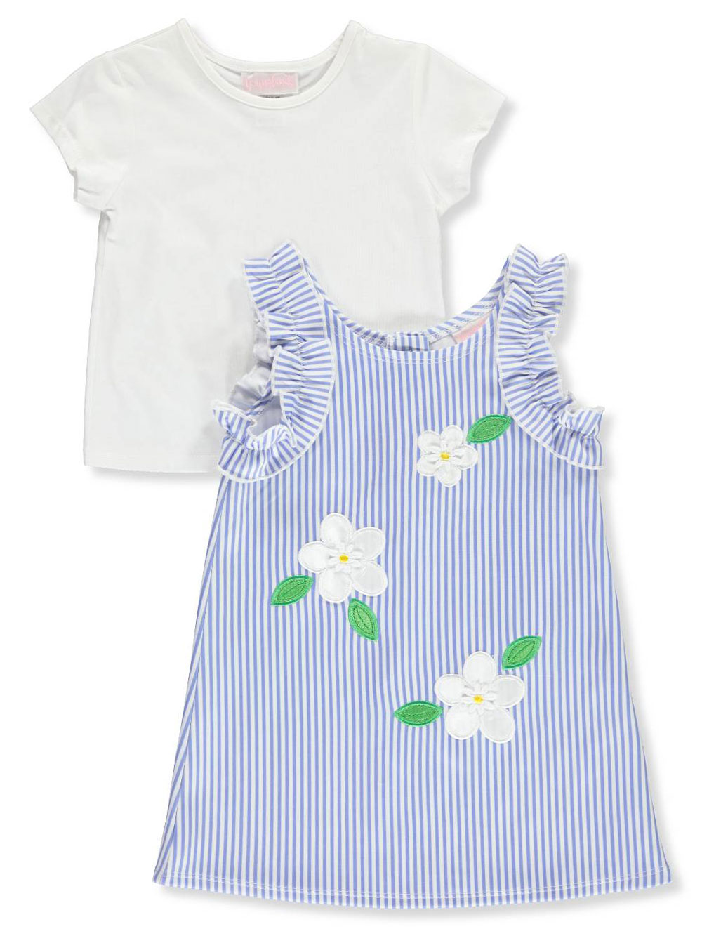 7bf36704f89cf Girls' 2-Piece Dress Set Outfit by Youngland in Flower from Cookie's Kids