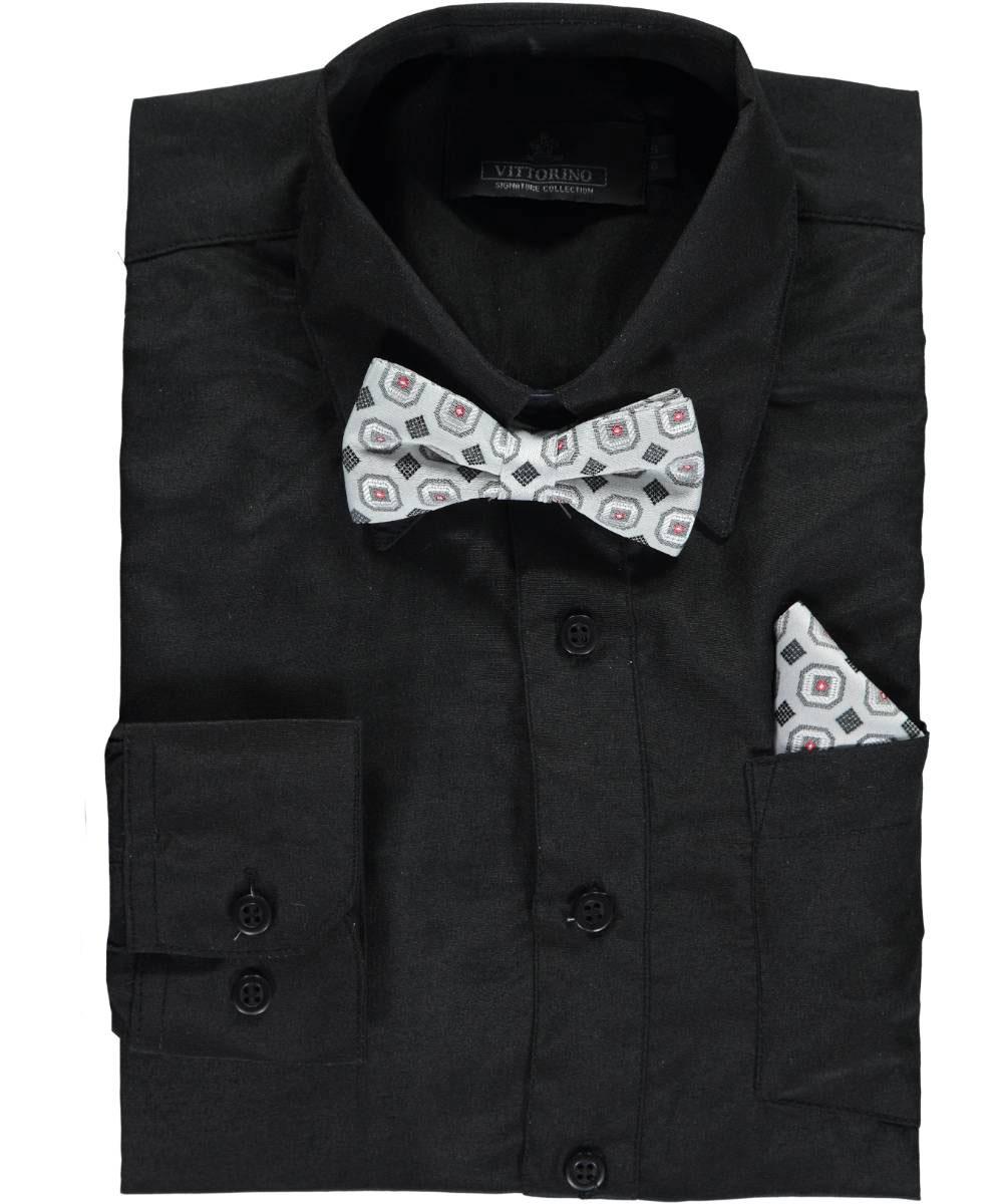 Vittorino Big Boys' Dress Shirt with Accessories (Sizes 8 - 20)
