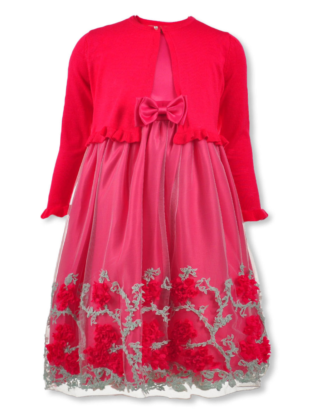 Girls Fuchsia Special Occasion Dresses