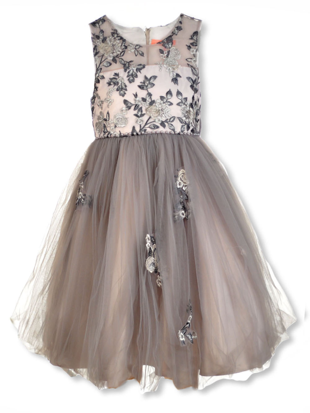 Girls Silver Special Occasion Dresses