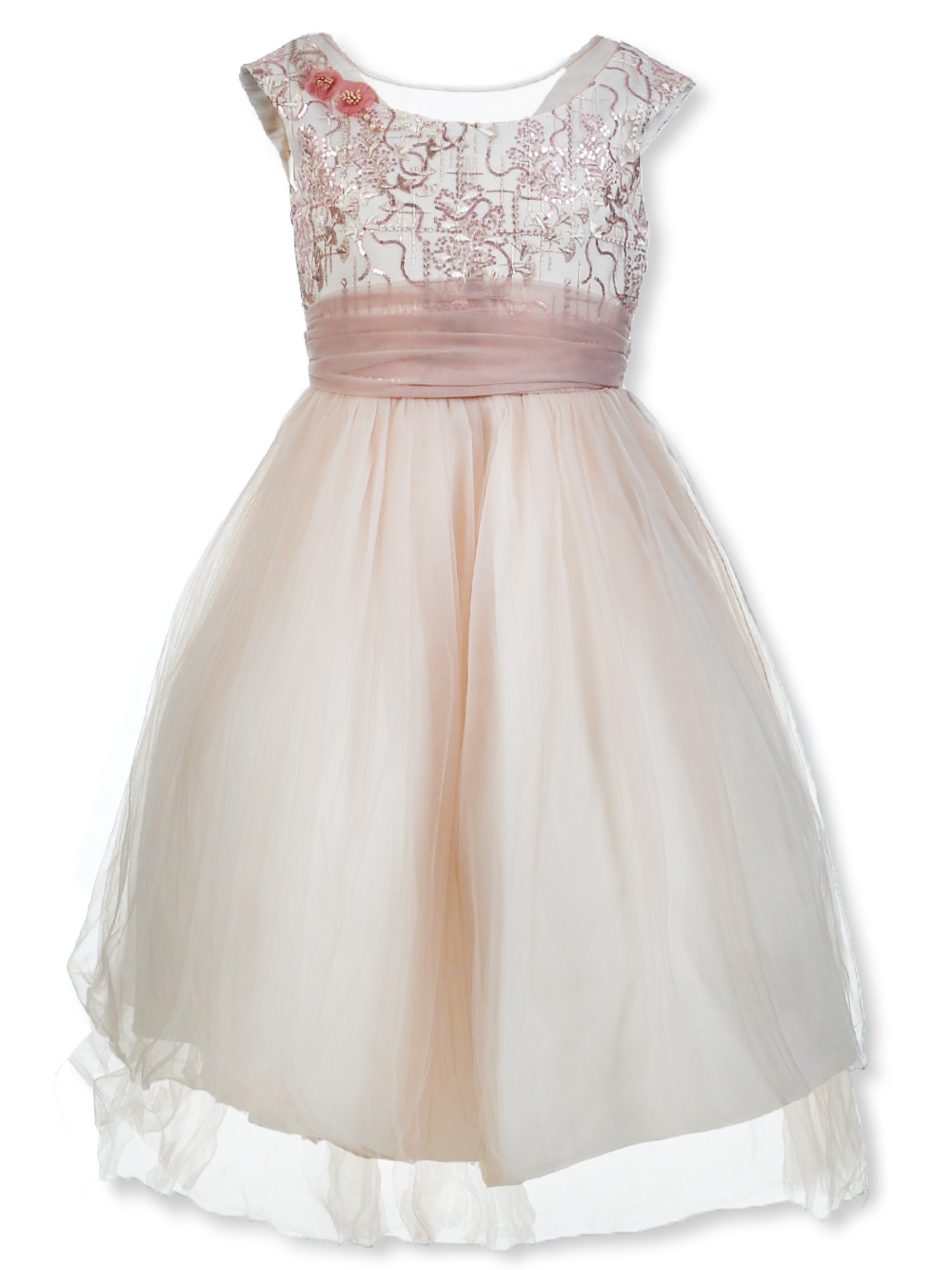 Girls Dusty Rose Special Occasion Dresses