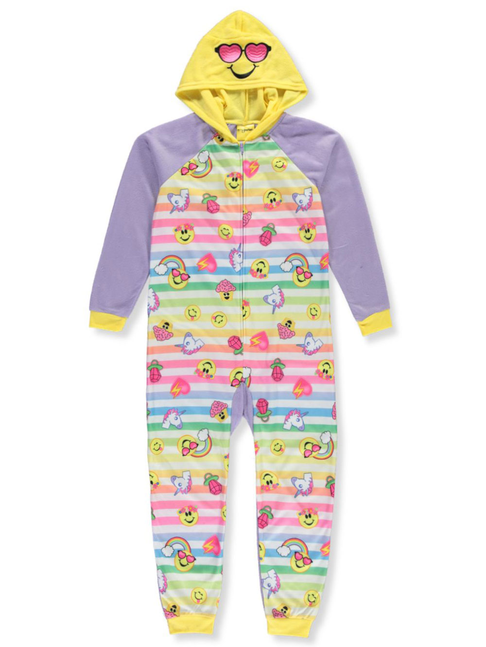 Girls Fashion Hooded 1-Piece Pajamas