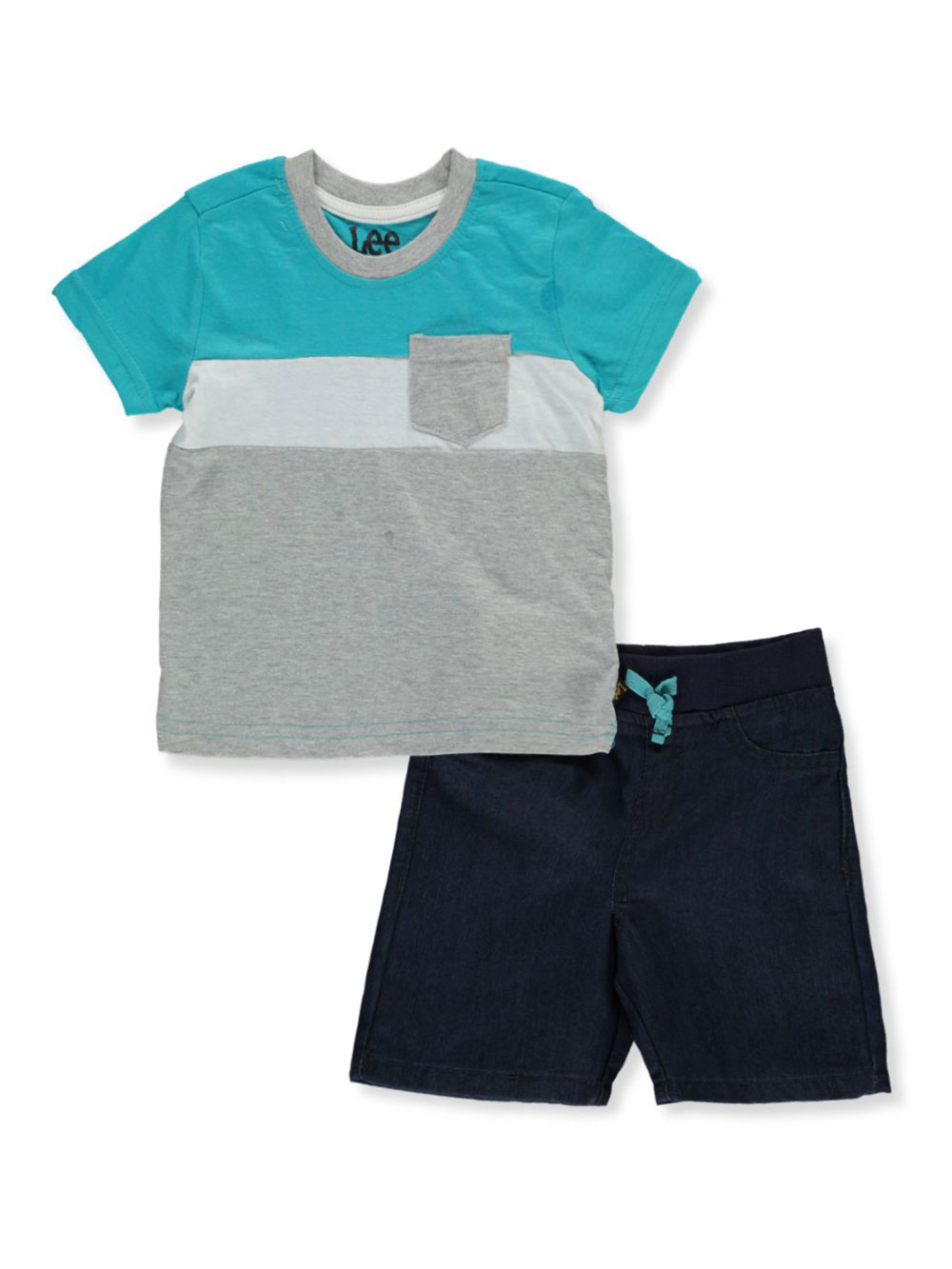 Boys' 2-Piece Denim Shorts Set Outfit