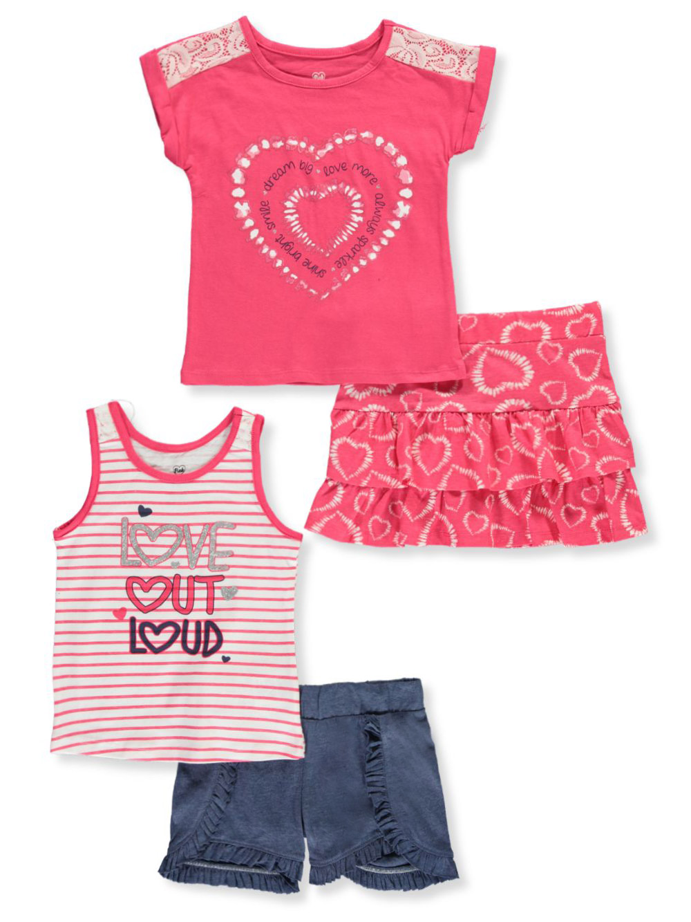 Girls Heart Short Sets