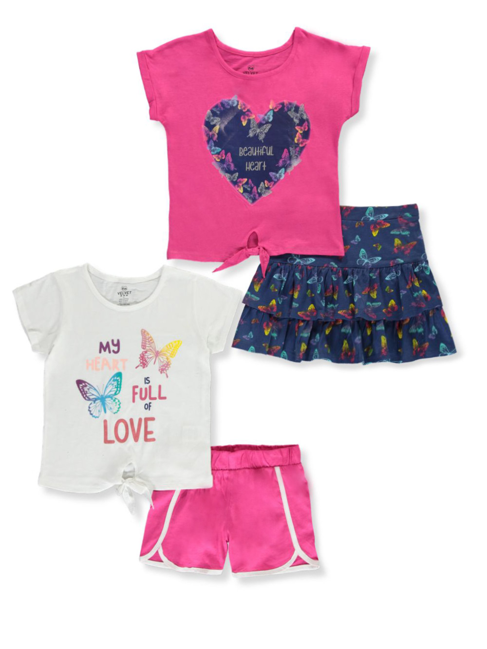 RMLA Girls Butterfly Dress and Sunglasses 2-Piece Outfit