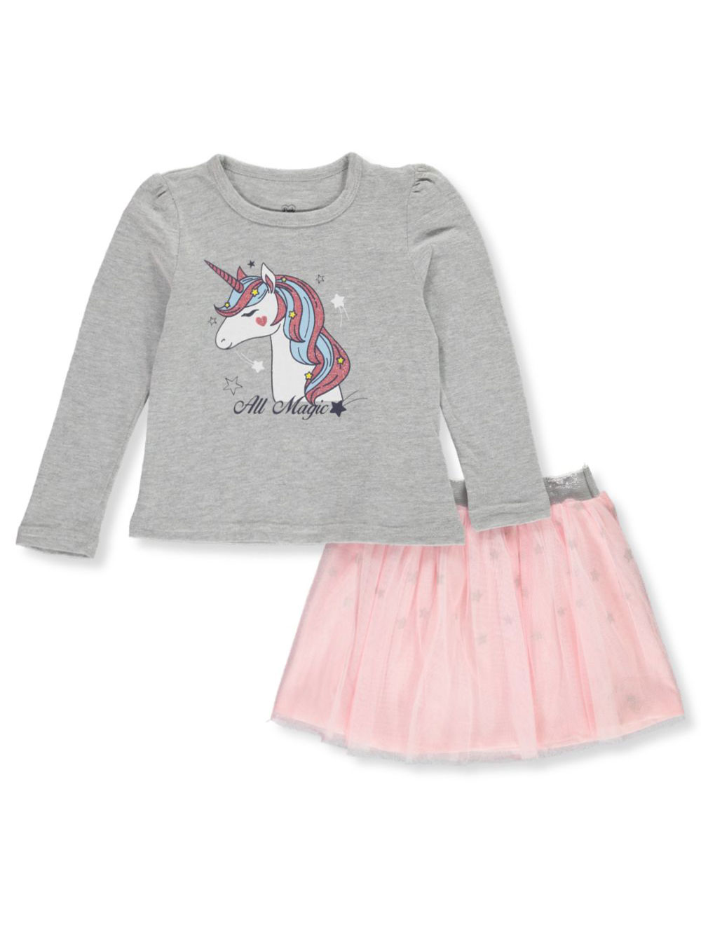 Girls Gray Skirt Sets