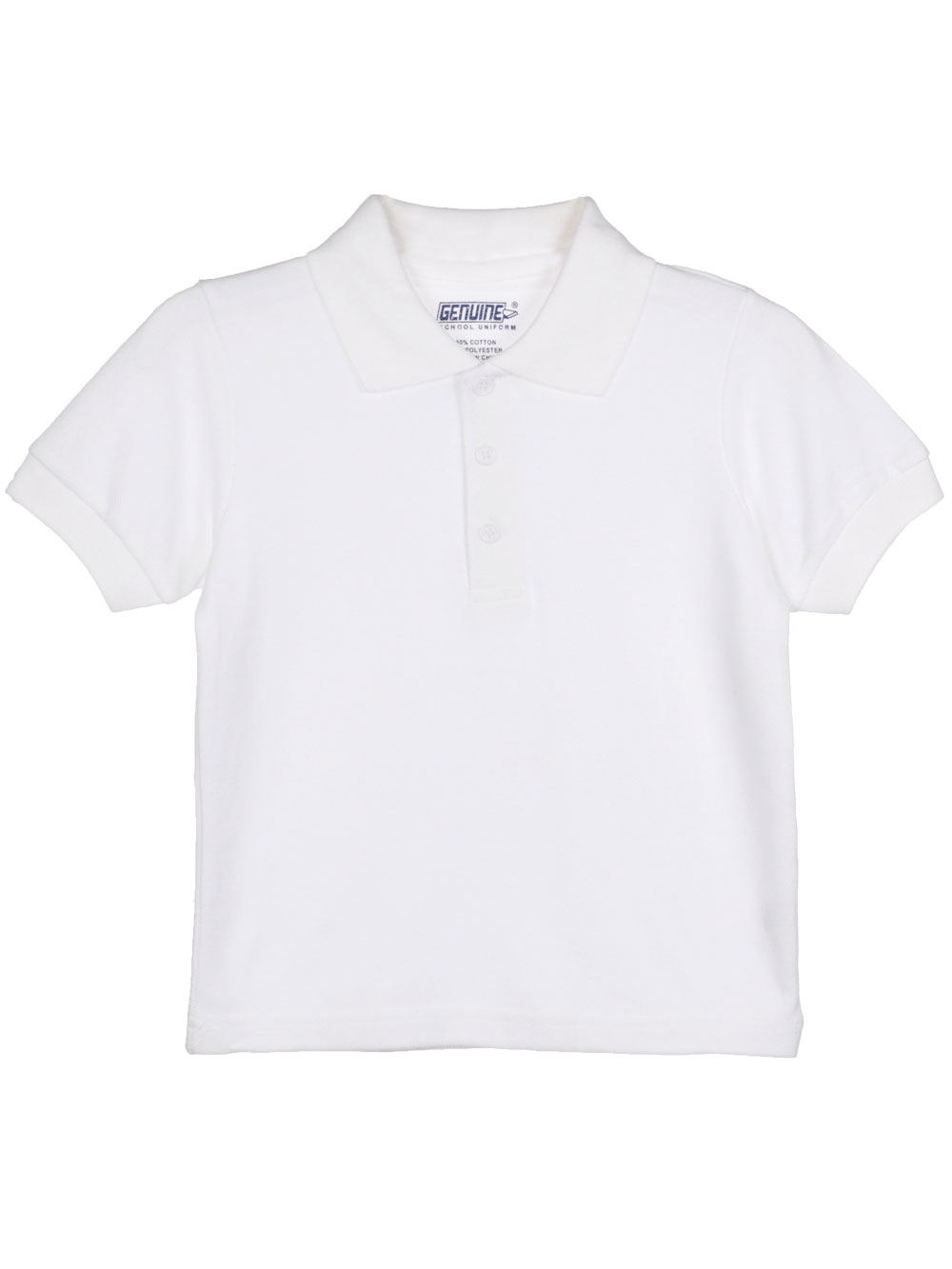 Image of Genuine SS Unisex Pique Polo Sizes 8  20  white 18