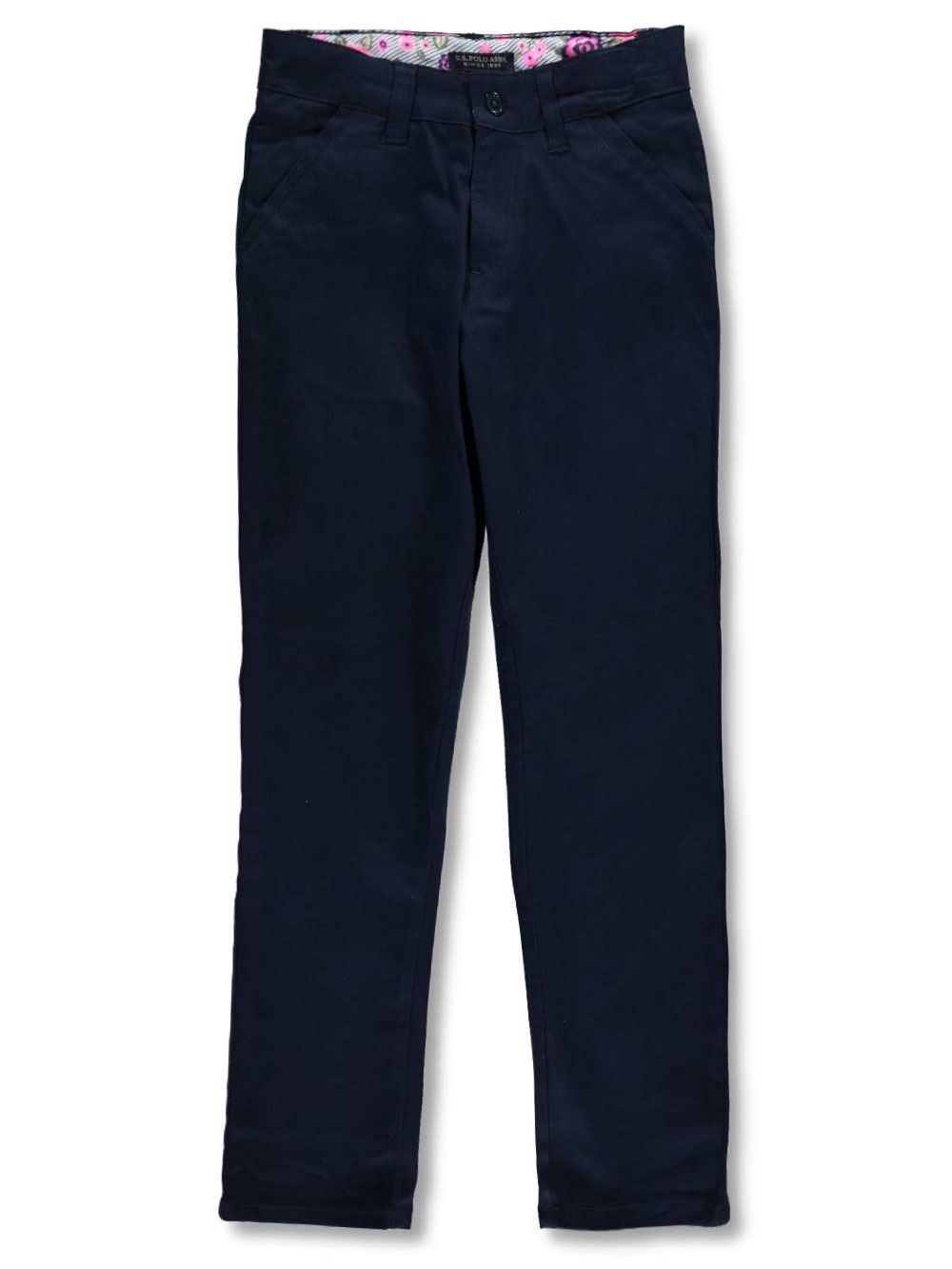 6 More Styles Available Polo Assn Boys Twill Pant U.S Classic Navy