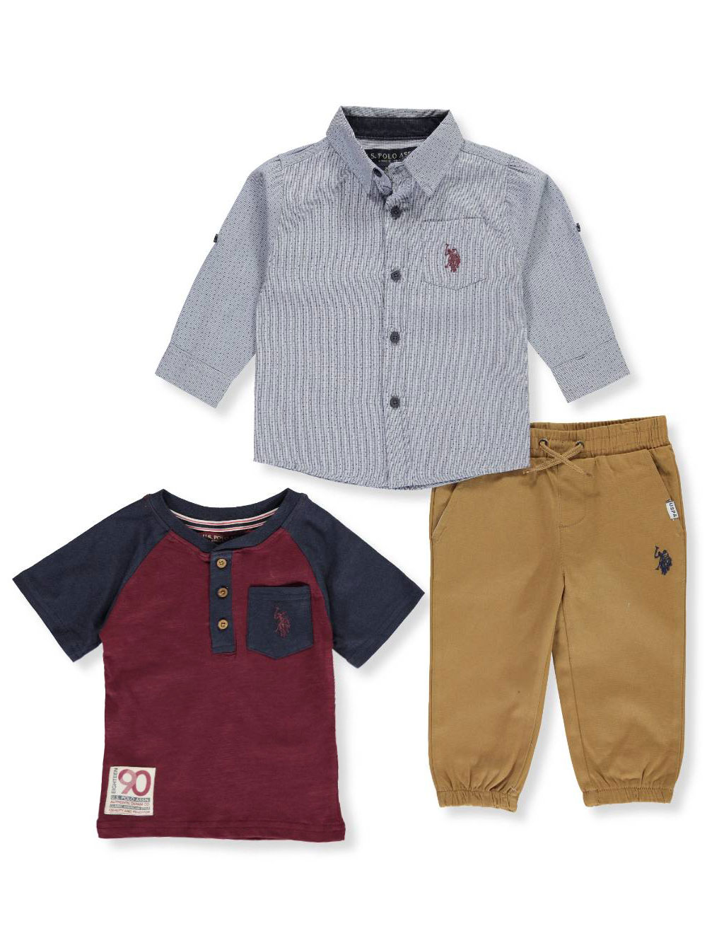 U.S Boys T-Shirt and Short Set Polo Assn