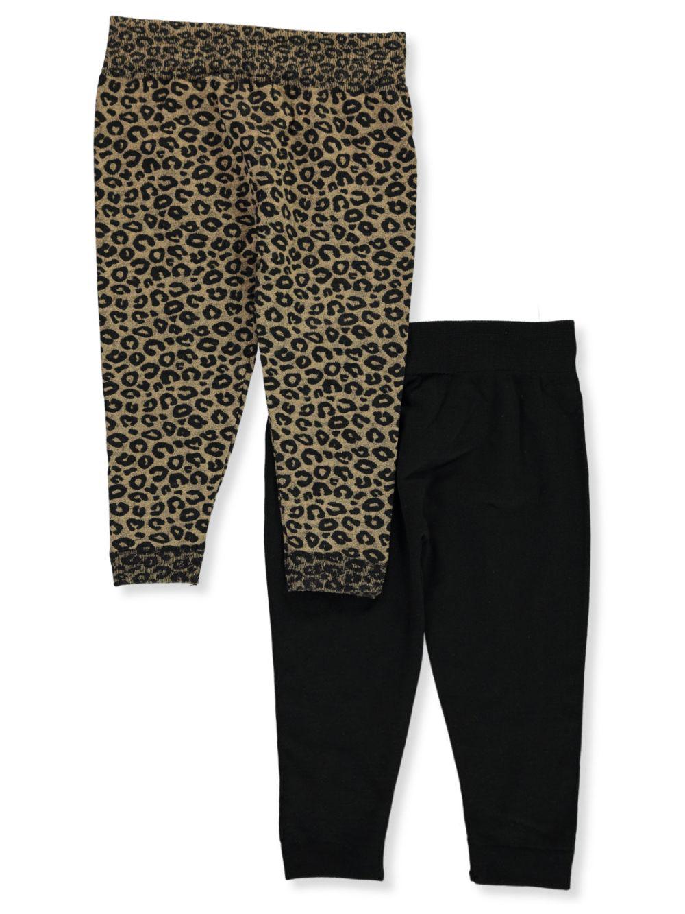 Dream Star Girls/' 2-Pack Fleece-Lined Leggings