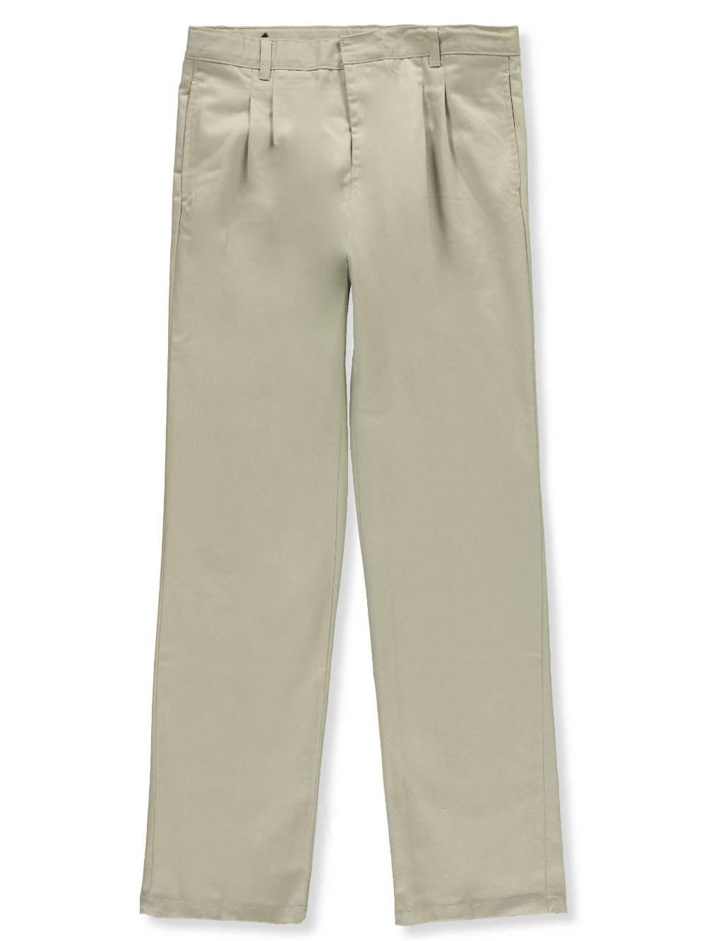 16 Khaki French Toast Big Boys Pleated Wrinkle No More Double Knee Pants