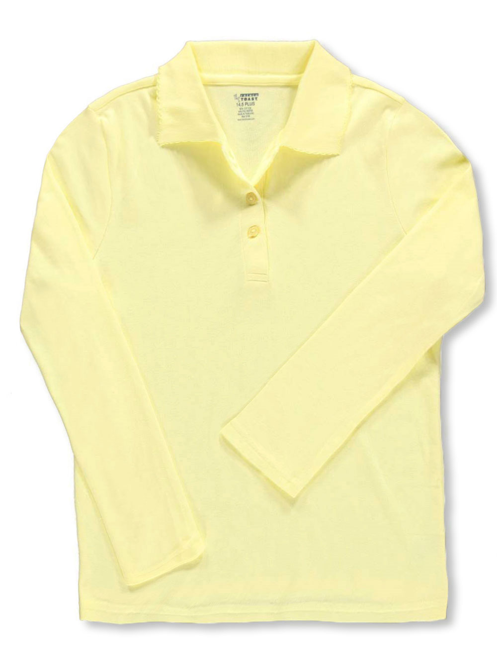 f30689354bb French Toast Big Girls  Plus L S Fitted Knit Polo With Picot Collar