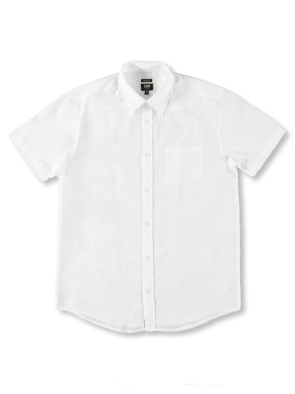 LEE Mens Uniforms S//S Button-Down Shirt White s