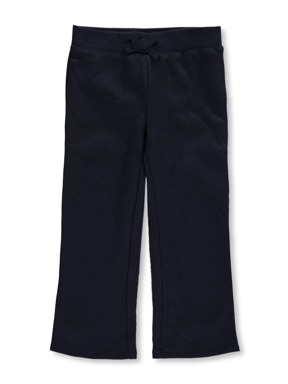 French Toast School Uniform Little Girls' Straight Leg Fleece Sweatpants (Sizes 4 - 6X) - navy, 4