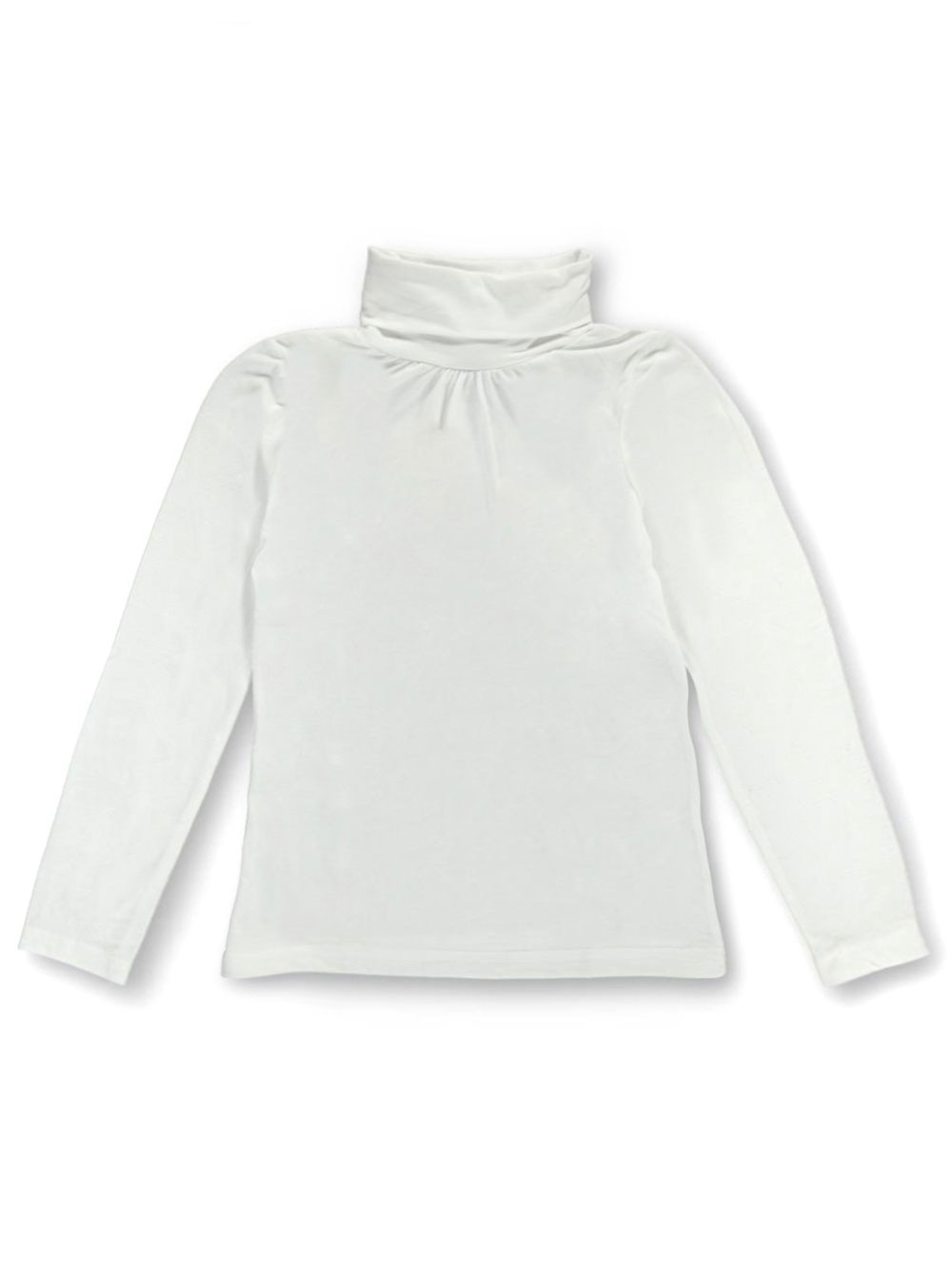 Image of French Toast Big Girls Ruched Turtleneck Sizes 7  16  white 10  12