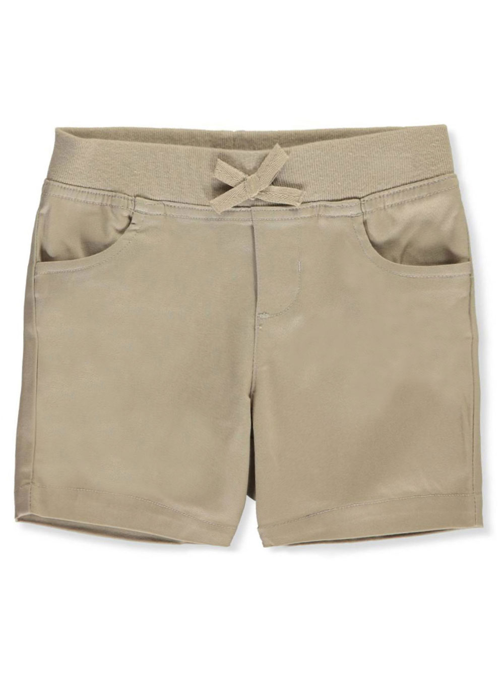 Wrinkle No More Pull-On Tie-Front Shorts