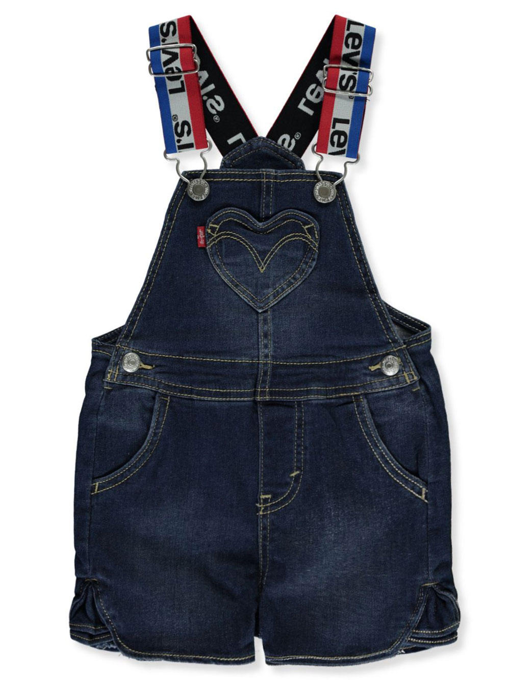 Girls Dark Denim Overalls and Shortalls