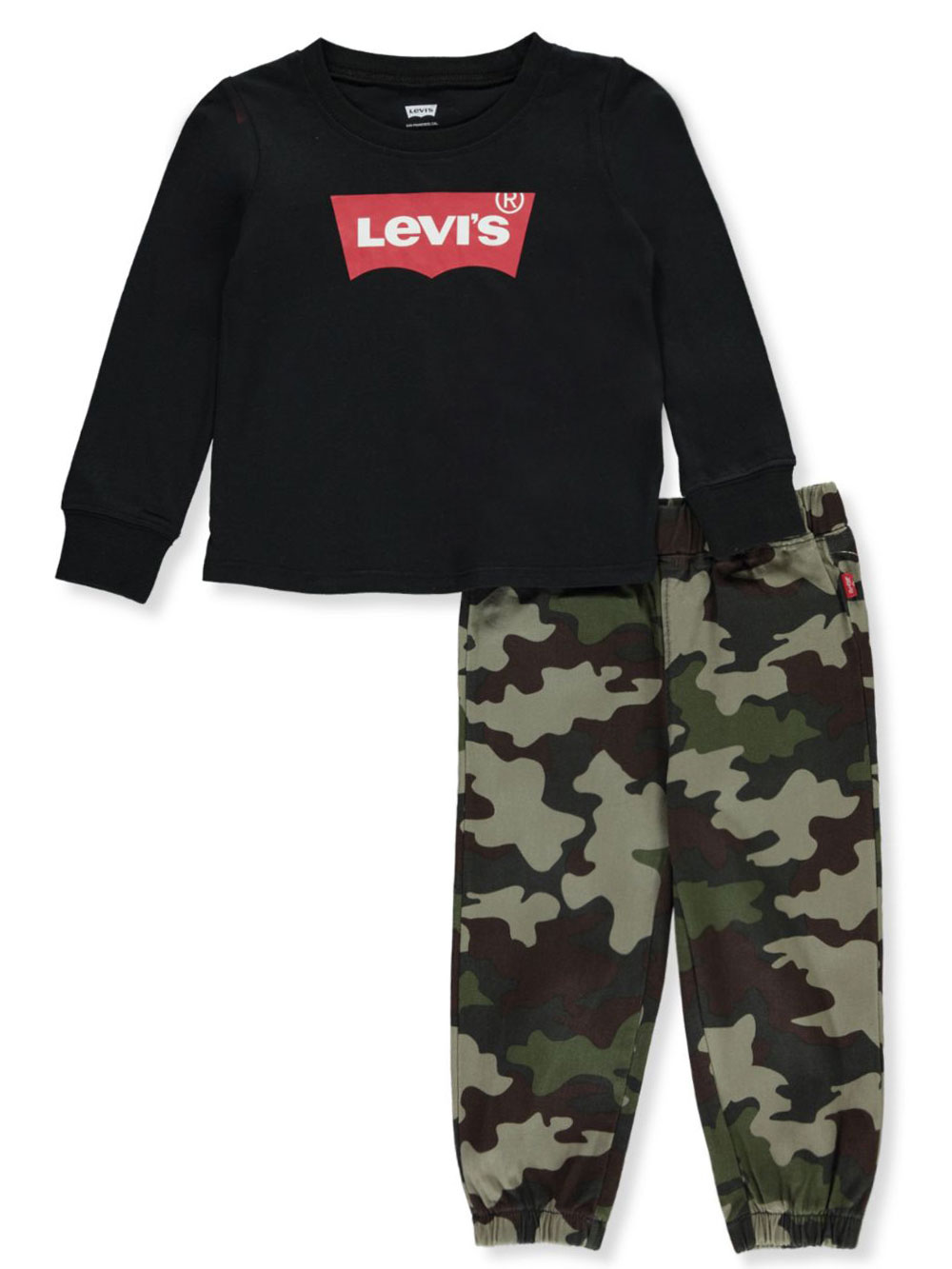 Boys' Camo 2-Piece Joggers Set Outfit