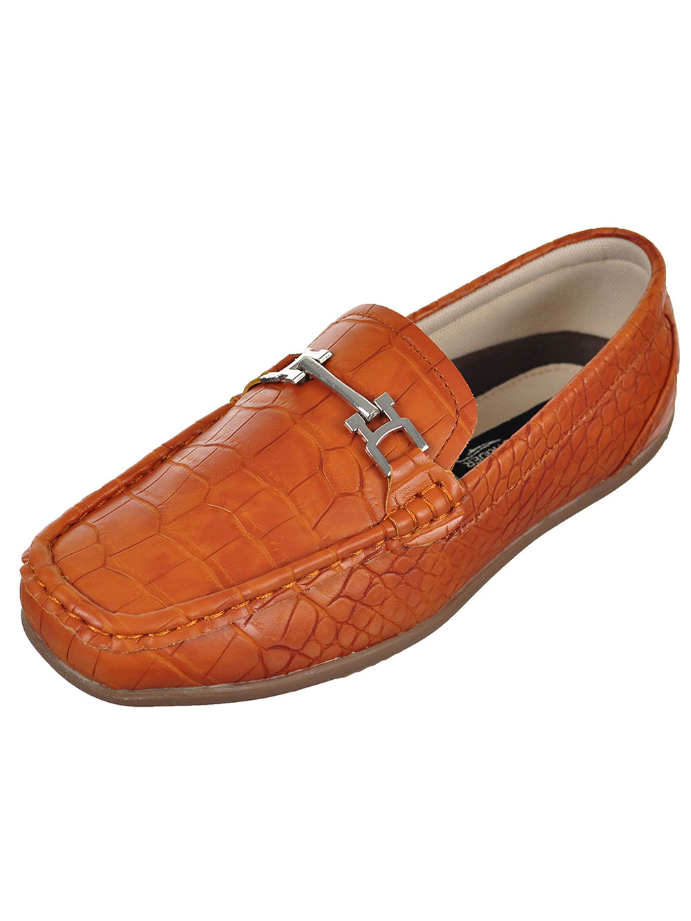 Boys' Faux Snakeskin Loafers