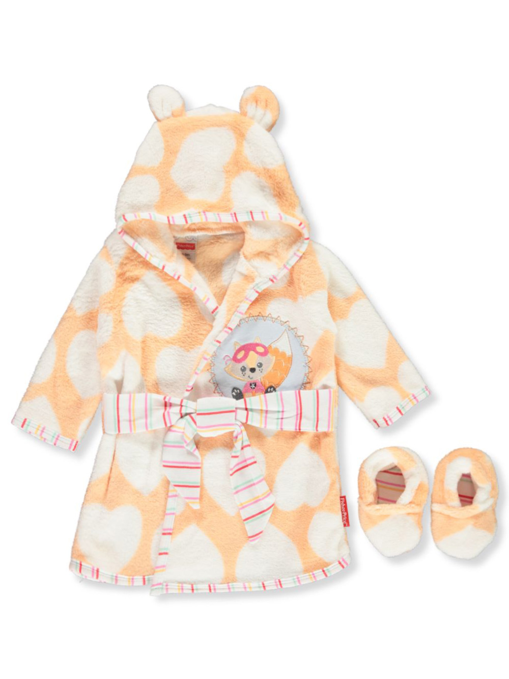 Pajamas Hooded Robe and Slippers Set