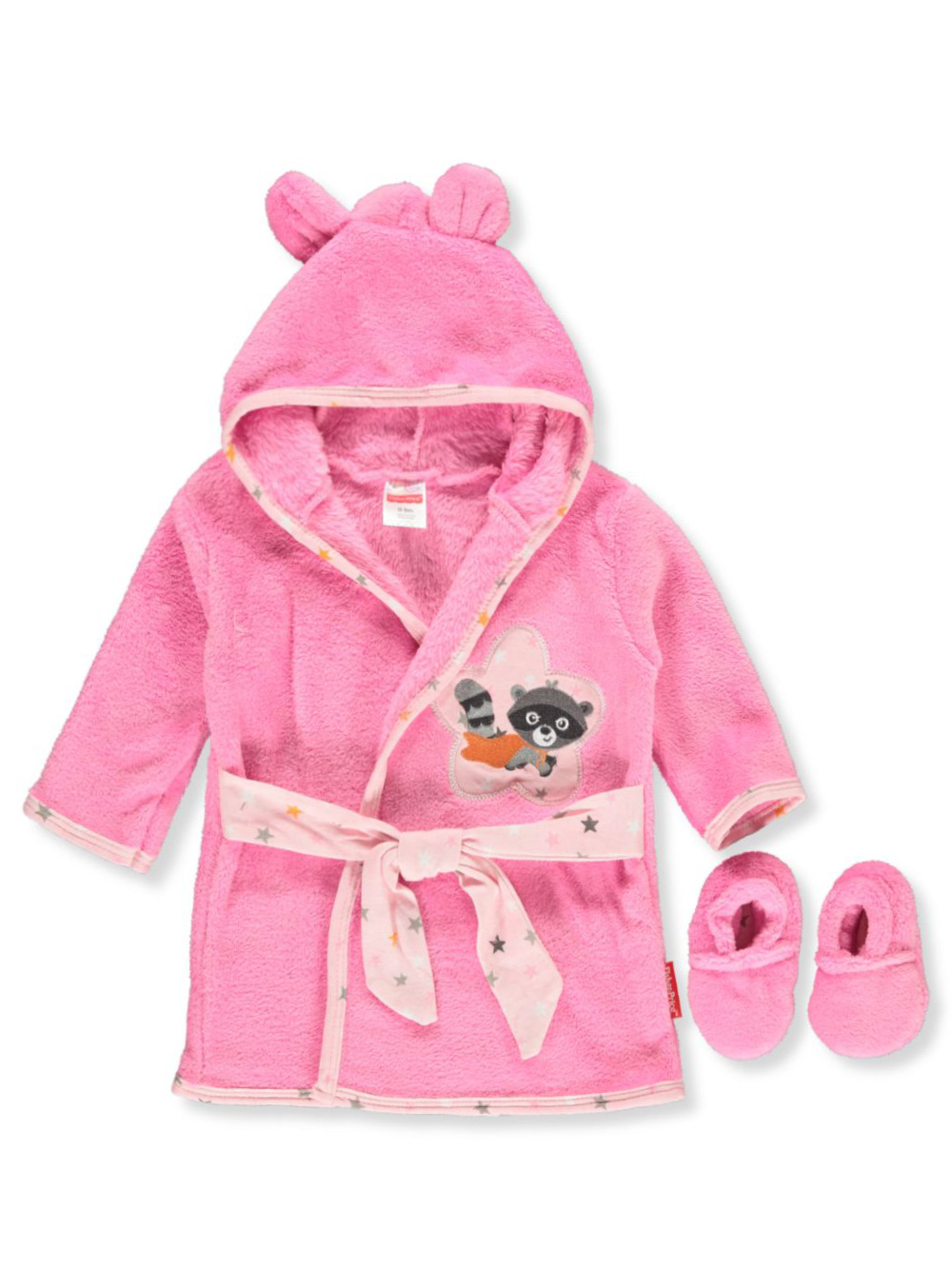 Hooded Robe and Slippers Set