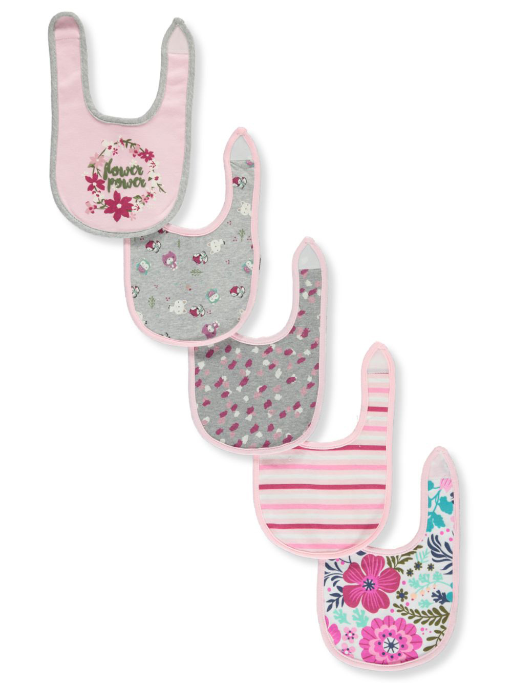 Baby Girls' 5-Pack Bibs