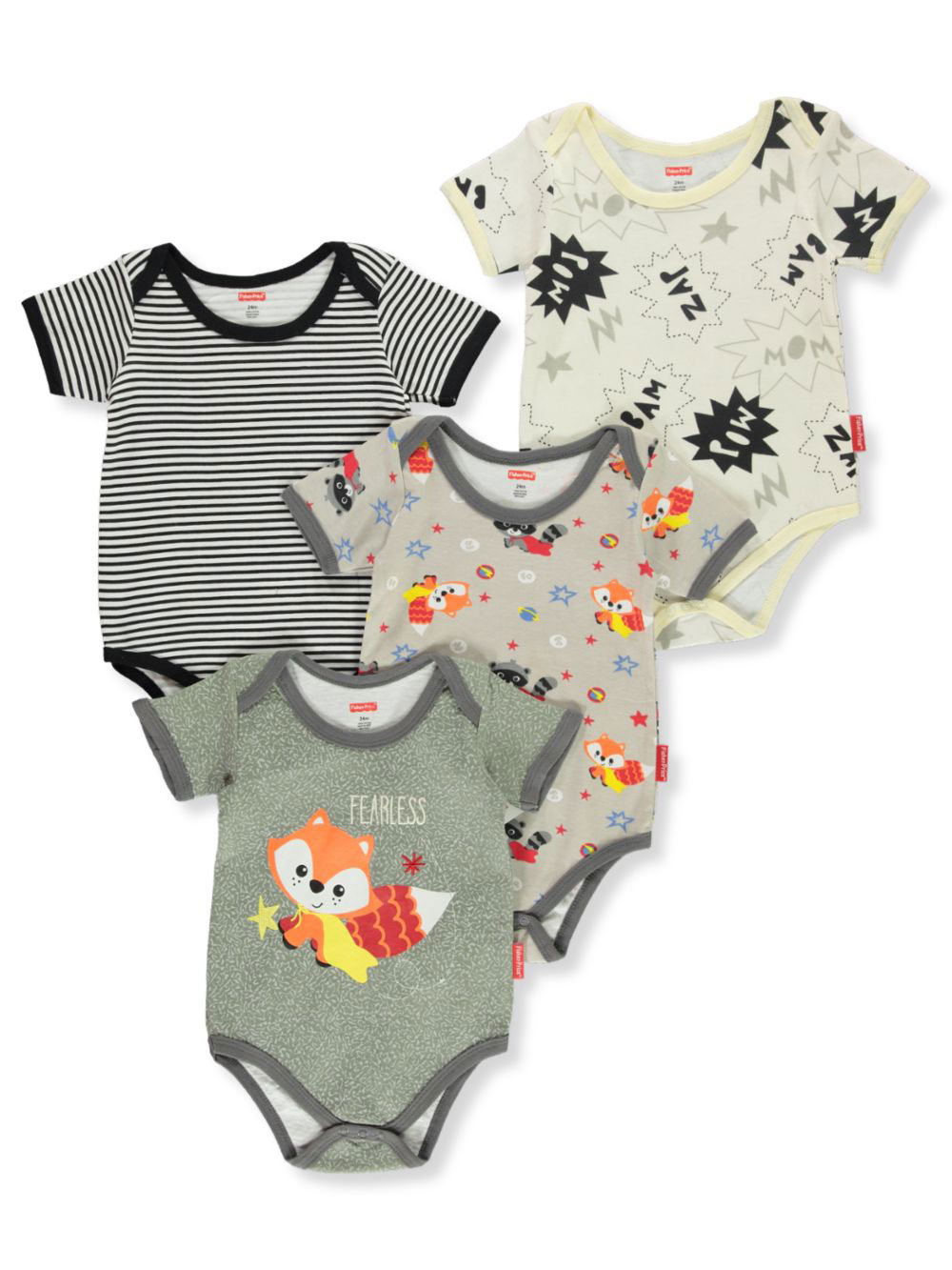 Baby Boys' 4-Pack Bodysuits