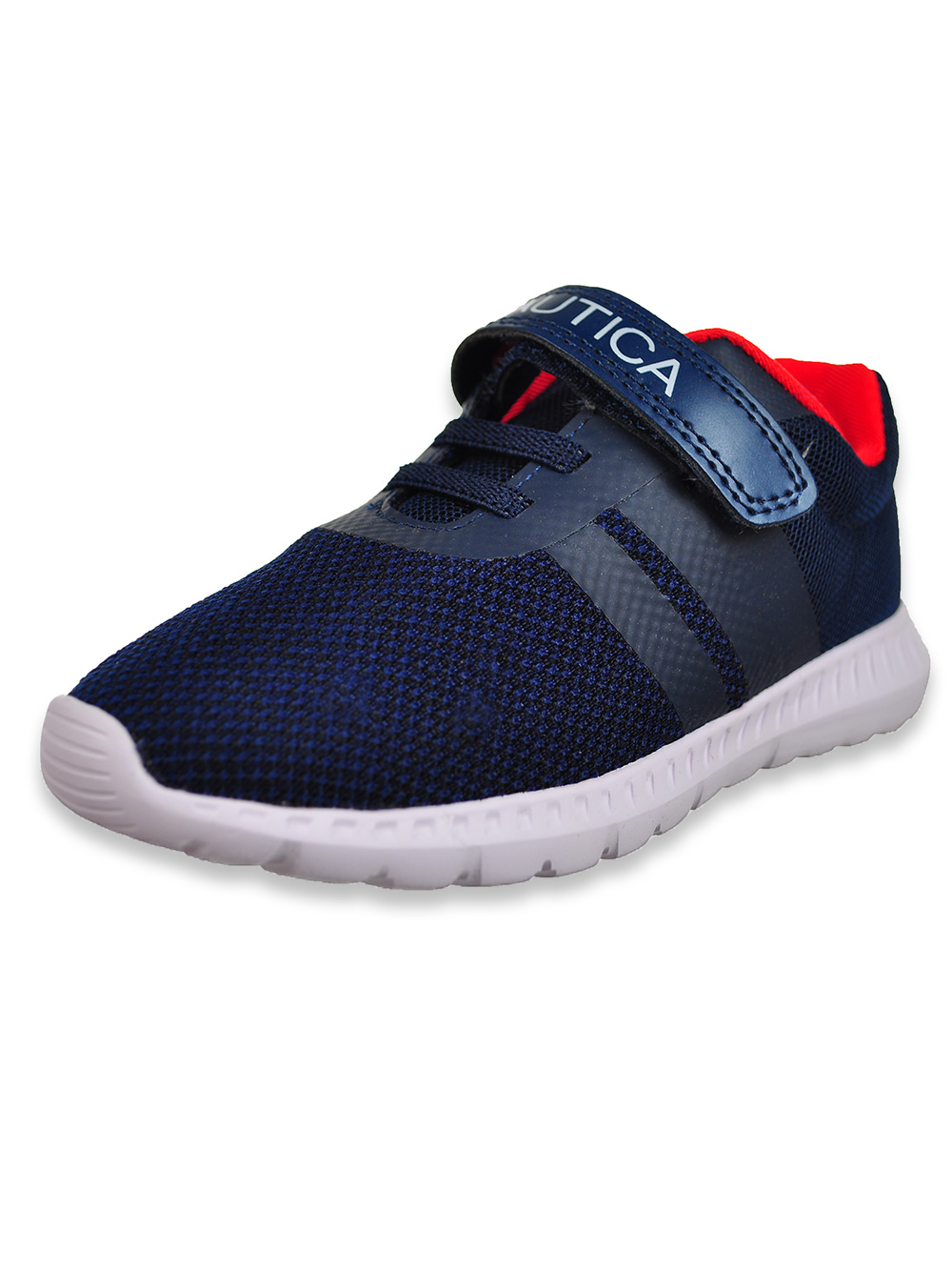 Boys' Hook-and-Loop Strap Running Sneakers