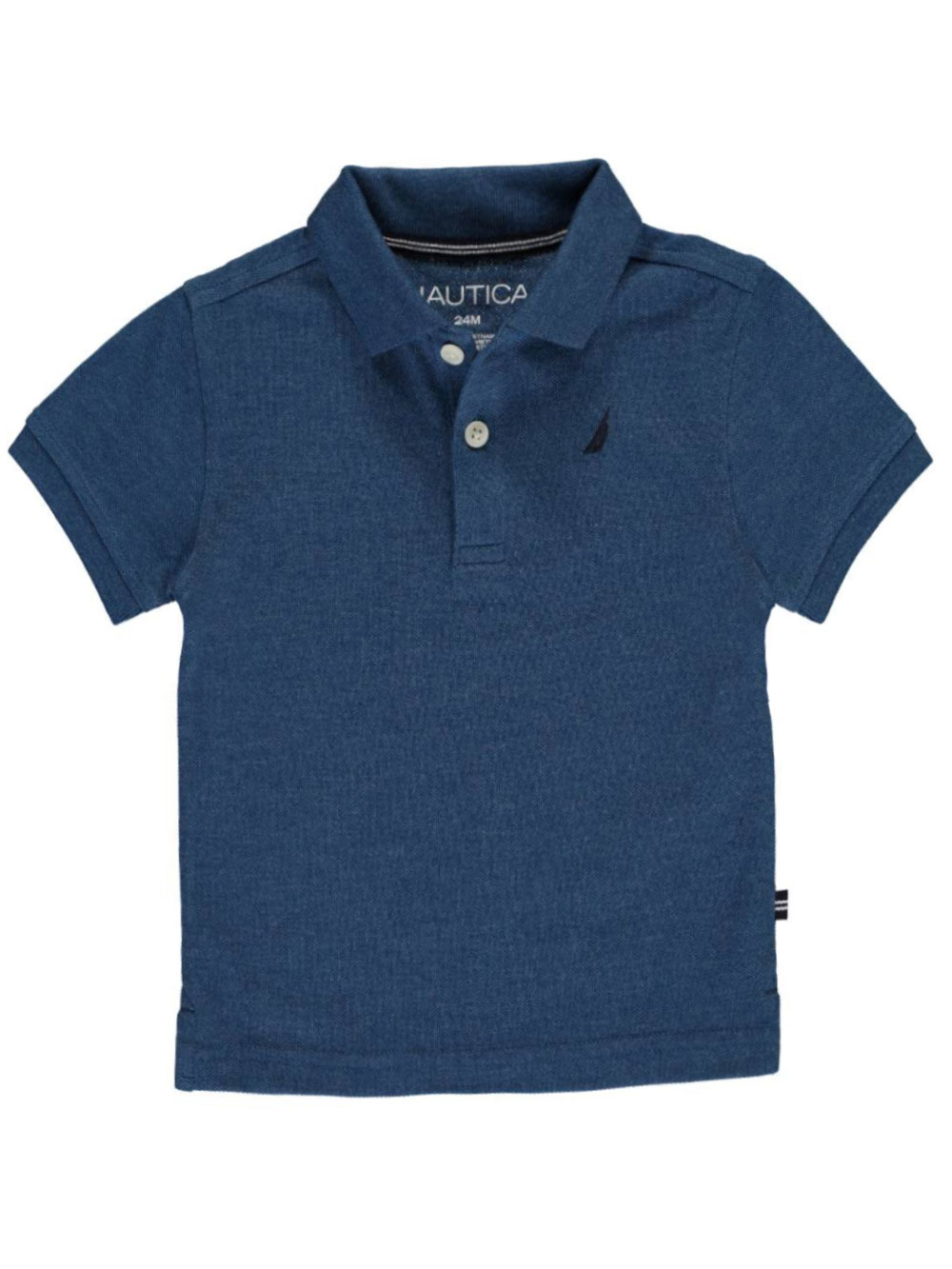 Image of Nautica Baby Boys Solid State Pique Polo  titanic blue 24 months