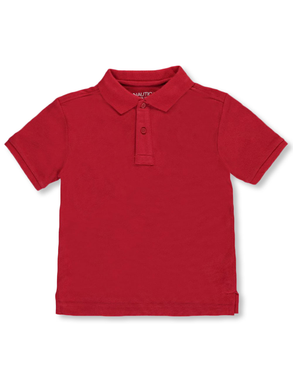 Boys Red Knit Polos
